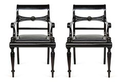 One Kings Lane - Celebrating 30 Years of Ralph Lauren Home - Empire-Style Armchairs, Pair