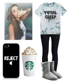"""""""Creep"""" by donut37 ❤ liked on Polyvore featuring Rodarte, UGG Australia and Samsung"""
