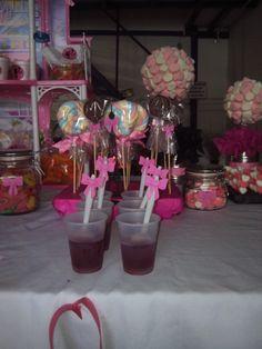 Mesa de dulces barbie
