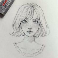 Drawing Of Girls Sketches Fashion Illustrations Art Drawings Sketches Simple, Pencil Art Drawings, Illustration Sketches, Drawing Art, Illustration Inspiration, Girl Face Drawing, Fashion Illustrations, Pretty Art, Cute Art