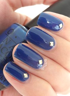 Maybe for the upcoming wedding I will be attending this fall in FL? Only I will use Sparitual. OPI Dating a Royal + Studs = Dating a Stud!