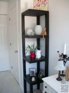 31. #Corner Shelf - 33 Ikea Hacks #Anyone Can do ... → DIY #Hacks