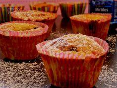 7gramas de ternura: Muffins de Limão e Coração de Mirtilos