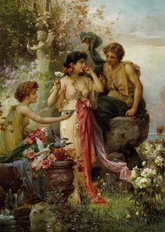 Hans Zatzka (Viena, Áustria, 08 março de 1859 – Viena, Áustria, 17 de dezembro de 1945)  The Love Offering