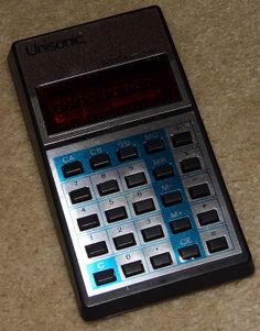 Vintage Unisonic Model 1541L Electronic Pocket Calculator, Made In Hong Kong, Red LED, Circa 1978.