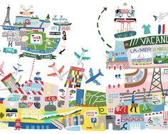 Antoine Corbineau - Airport in Paris 2 - Travel Transport - Map - Landmarks…