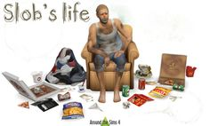Slob's Life clutter by Sandy at Around the Sims 4 • Sims 4 Updates