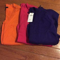 Gap sweater bundle Gap sweater bundle/ 3/4 sleeve// orange worn once/ pink worn once/purple brand new (size small) GAP Sweaters Cardigans