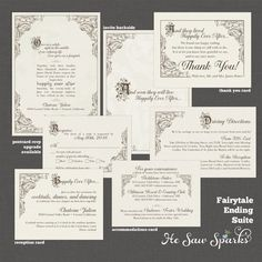 fairy tale wedding invitation wording from wwwinvitationsbydawn