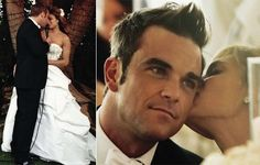 """Robbie Williams sang """"Angels"""" while his first dance with her wife Ayda Field"""