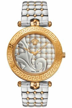 Versace Women's Swiss Vanitas Two-Tone Ion-Plated Stainless Steel Bracelet Watch - Women's Watches - Jewelry & Watches - Macy's Elegant Watches, Beautiful Watches, Armani Watches, Luxury Watches, Patek Philippe, Devon, Cartier, Versace Vanitas, Gold Jewelry