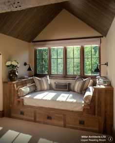 Great use of main window space in attic. Picture courtesy of Miller Architects Ltd.