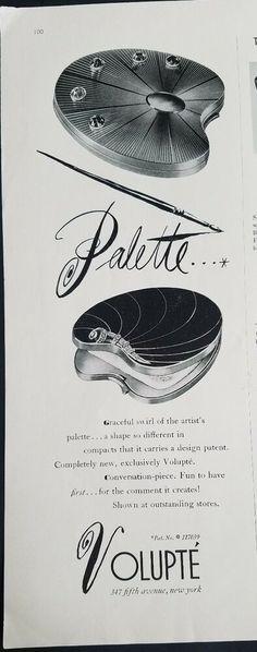 Vintage Makeup, Palette, Pure Products, Ephemera, Compact, Artist, Powder, Ebay, Face Powder
