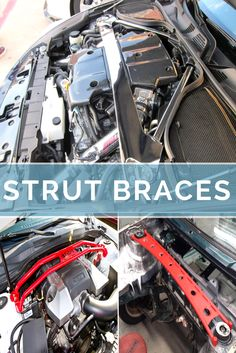 Strut braces enhance the structural integrity of the car.  If you plan on going on a serious canyon carving run or a track day, strut braces essentially reduce this and help it corner much better.