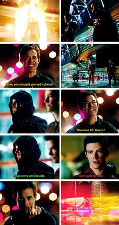 The Flash - Ronnie/Firestorm, Barry & Oliver vs. The reverse flash #1x22 #Season3 #Flarrow