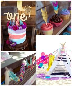 Boho Teepee 1st Birthday Party via Kara's Party Ideas | KarasPartyIdeas.com (3)