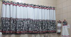 Fiz esta cortina para minha cozinha. Vi esse modelo no pinterest e fiquei apaixonada. Por sorte tinha tudo em casa, foi só cortar e costu...