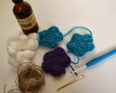 Scented Star Crochet Ornaments