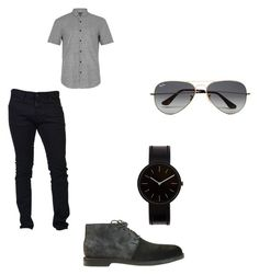 """""""Untitled #20"""" by directioner-792 on Polyvore featuring Dsquared2, Topman, Ray-Ban and Uniform Wares"""
