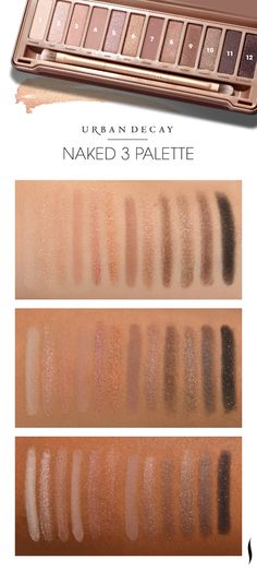 We swatched Urban Decay's new Naked3 palette to see how the colors looked on different skintones. What do you think? #Sephora
