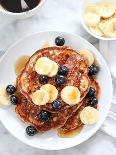 These Banana Bread Pancakes have a few secrets going on. Not only are they absolutely scrumptious, they also are packed with flavor and healthy ingredients that will keep you and your family full and satisfied all morning long!