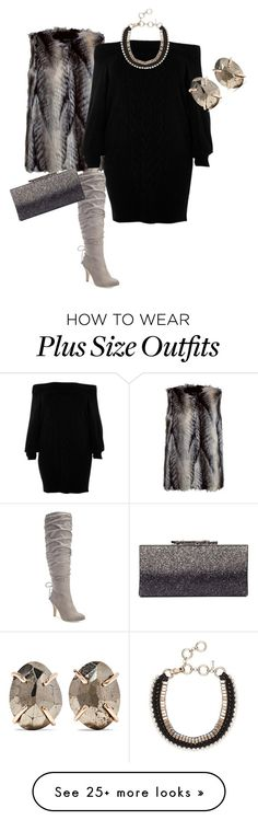 """Plus size diva"" by xtrak on Polyvore featuring Boohoo, River Island, Melissa Joy Manning, Thalia Sodi, Jimmy Choo and plus size dresses"