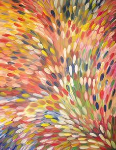 Australian Aboriginal Art Painting by GLORIA PETYARRE - Bush Medicine Leaves - 200 x 154 cm - GP1793 #artwork #canvas #australia