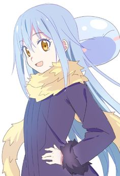 Rimuru-That time I got reincarnated as a slime Ken Anime, Anime Manga, Anime Art, Cute Anime Pics, Awesome Anime, Slime Wallpaper, Character Concept, Character Art, Blue Hair Anime Boy