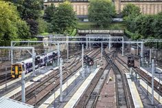"""Edinburgh's Waverley Station is the final destination for trains on the famous """"Flying Scotsman"""" East Coast line."""
