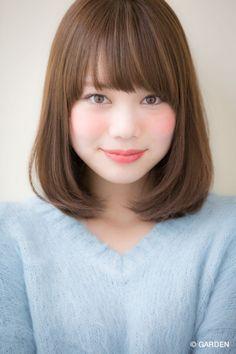 GARDENが提案する最新ヘアカタログ Medium Hair Cuts, Short Hair Cuts, Medium Hair Styles, Short Hair Styles, Japanese Short Hair, Japanese Hairstyle, Lob Hairstyle, Bun Hairstyles, Best Long Haircuts