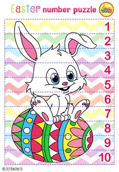 Easter themed Preschool Printables - Free worksheets, number puzzles - tracing letters, numbers and other activities - fun learning by BonTon TV Easter Activities For Preschool, April Preschool, Kids Activity Books, Preschool Printables, Easter Crafts For Kids, Easter Puzzles, Classroom Fun, Student Gifts, Kindergarten