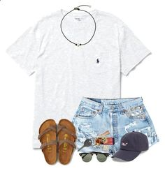 A fashion look from July 2016 featuring American Eagle Outfitters sandals, Ray-Ban sunglasses and Cherokee. Browse and shop related looks. Cute Comfy Outfits, Cute Outfits For School, Cute Summer Outfits, Short Outfits, Outfits For Teens, Trendy Outfits, Lazy Outfits, Simple College Outfits, Outfit Summer