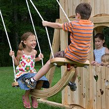 face-to-face swing. I remember these. we literally had the expressions those kids in the picture have on our faces XD