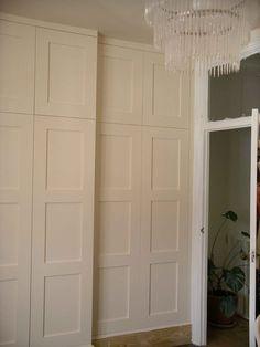 bespoke wardrobe with panelled doors