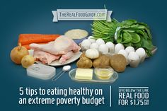 #LiveBelowTheLine: 5 Tips to Eating Healthy on a Budget of Extreme Poverty - The Real Food Guide