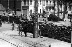 Una gran trinchera republicana en el camino del Grau, en Valencia, fotografíada el 30 de julio de 1936, pocos días después de comenzar la Guerra CivilARCHIVO ABC