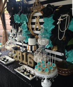 Graduation/End of school Birthday Party Ideas & Kate Spade Themed Party Ideas | Pinterest | Drop Sweet 16 and Birthdays