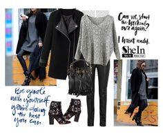 """""""SheIn"""" by alien-official ❤ liked on Polyvore featuring Helmut Lang, Isabel Marant, Yves Saint Laurent, women's clothing, women, female, woman, misses and juniors"""