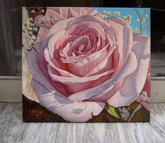 Pink Rose Oil Painting Large Painting Original Rose Canvas Art White Chic Rose Bedroom Wall Art Floral Flowers Art Over the Couch Painting - Pink Rose Oil Painting Large Painting Original Rose Canvas Art Famous Flower Paintings, Oil Pastel Paintings, Original Paintings, Oil Painting Flowers, Large Painting, Oil Painting Abstract, Painting Wallpaper, Flower Art, Floral Flowers