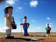 """Scrap Metal """"Tin Family"""" on the Enchanted Highway in North Dakota Enchanted Highway, Roadside Attractions, North Dakota, Tin, Unique, Collection, Beautiful, Scrap, Traveling"""