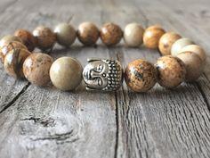 Kinder half edelsteen armband Buddha armband door KennlyDesign