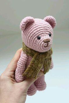Pattern available: Amigurumi Crochet Teddy Bear Pattern Thank You! Crochet Teddy Bear Pattern, Crochet Bear, Crochet Animals, Crochet Patterns Amigurumi, Crochet Dolls, Crochet Crafts, Crochet Projects, Single Crochet Stitch, Crochet Round