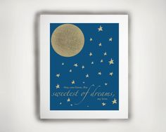 Nursery Art Typography Sweet Dreams Print 11x14 by ShopLittles