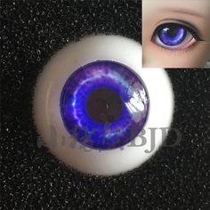 1//3 1//4 1//6 bjd 16mm acrylic doll eyes purple full eyeball dollfie AE-59 ship US
