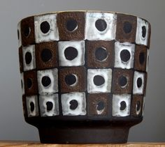 rare vintage 60 39 bodo mans reims for bay 1012 17 vase w german pottery fat lava pottery. Black Bedroom Furniture Sets. Home Design Ideas