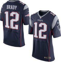 Mens Tom Brady New England Patriots Jersey #12 Home Nike Stitched Elite Jersey