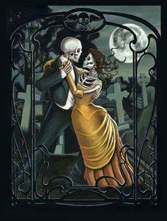 Dia de Los Muertos. Day of the dead. Skeletons