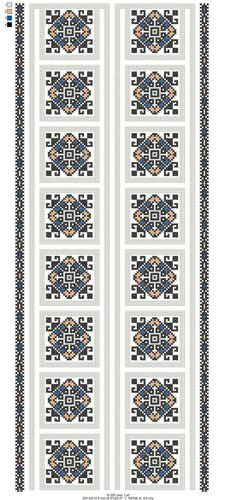 Palestinian Embroidery, Embroidery Designs, Diy And Crafts, Cross Stitch, Pattern, Embroidery, Sewing, Crossstitch, Patterns
