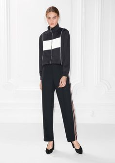 & Other Stories Tracksuit Trousers  in Black