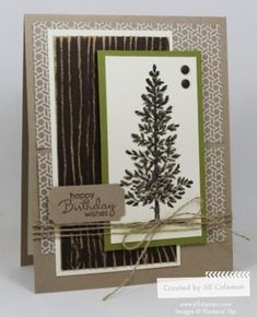 Lovely As A Tree Blended Birthday by jillastamps - Cards and Paper Crafts at Splitcoaststampers